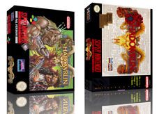 Shadowrun snes Replacement Game Case Box + Cover Illustration Type (NO GAME)