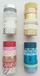 Seven Rolls of Washi Tape for Crafting / Scrapbooking / Journals
