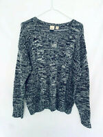Roxy Surf Size M Wool Semi See Through LS Jersey White Black