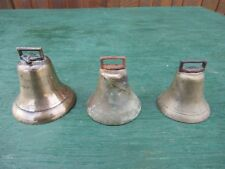 Vintage 3 Brass Horse Bell In Good Condition with Assorted Sizes