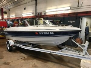 16' Forester 166 Phantom OMC In/Outboard Yacht Club Trailer T1297785