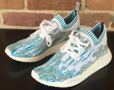 Adidas NMD R1 SNS Sneakerstuff 'Datamosh' Clear Aqua Blue White SZ 9 ( BB6364 )
