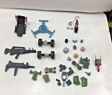 Gi Joe & Other Action Figure Parts, Guns, Helmets Vehicle Parts Lot 1980's