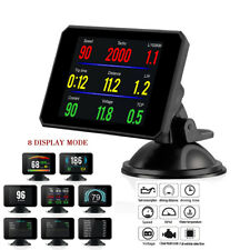 Trip Computer HUD OBD2 Gauge Speed Voltage Meter Fuel Water Temp Universal Car