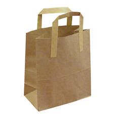 "KRAFT TAKEAWAY CARRIER BAG - 8.5 X 13 X 10"" - CASE OF 250 - JUST 6P A BAG!!!"