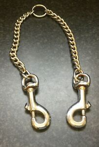 Dual Dog Clip Chain Lead - for a pair of Dogs on one lead.