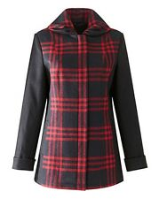 SIMPLY BE  BLACK/RED CHECK WOOL STYLE JACKET PLUS  SIZE 26 LENGTH 27 INS