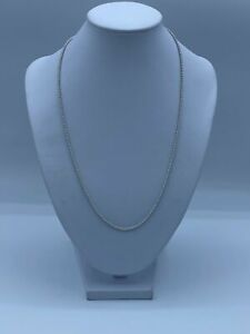 """18ct White Gold Fancy Chain Necklace For Women - 20"""", 2mm, 5.3g"""