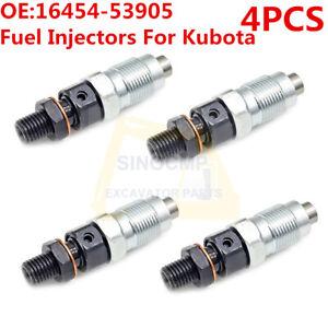 4X Fuel Injectors 16454-53900 16454-53905 for Kubota V2203 V2003 V1903 D1703