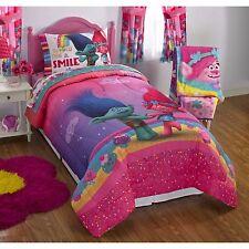 Dreamworks Trolls Full Double Kids Comforter & Sheet Set (5 Piece Bed In A Bag)