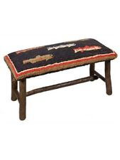 Chandler 4 Corners River Fish Hooked Top Wooden Bench - New - Free Shipping