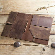 """Crazy Horse Leather Patfolio for macbook 12"""" multi-functional iPad leather case"""