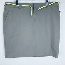 Apostrophe Tan White Striped Belted Women Skirt. Size 18. NWT.