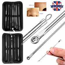 Blackhead Whitehead Pimple Spot Acne Comedone Extractor Remover Popper Tool Kit