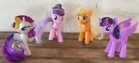 """Lot of 4 My Little Pony Toys: McDonald's Happy Meal Toys 2014 - 2016 MLP 3"""""""
