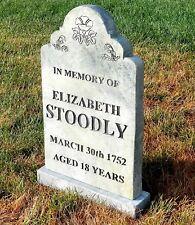 ELIZABETH STOODLY Halloween Tombstone Yard Prop Cemetery Graveyard Horror Dead