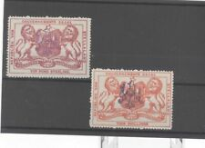 Stellaland Bechuanaland Lion Revenue With Overprint Mint Stamps