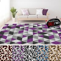 Large Geometric Area Rugs Soft Bedroom Living Room Carpets Hallway Runner Rug