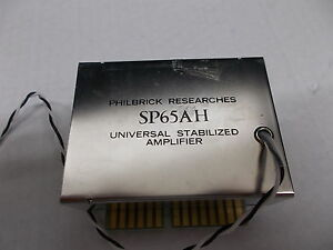 Philbrick Universal Stabilized Amplifier, SP65AH, 670358