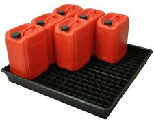 100L Oil and Chemical Bunded Drip Tray Sump Spill Pallet with Removable Grid