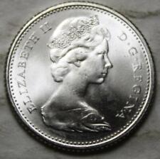 Canada 1966 Silver 10 Cents, Gem Brilliant Uncirculated