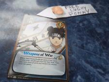 Naruto Cards TCG CCG 791  Weapons of War blue,black,red  + FREE lucky penny