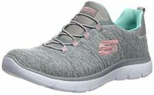 Skechers Womens Quick getaway Low Top Lace Up Fashion, Grey/Mint, Size 7.0 BBau