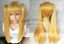 New Fashion Long  Gold Blonde Cosplay Wig With Two Clip On Ponytails