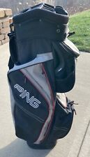 New listing Ping Traverse Cart Golf Bag, Black/Grey/Red, Used