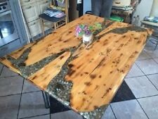 Großer Küchentisch - Naturholz/Handwerk, Hochglanz