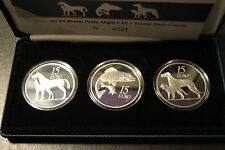 2010, 2011,2012 IRELAND €15 Silver Proof Coin Set