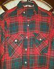 Vintage Woolrich Mens Wool 85/15 Red Green Plaid Shirt Jacket Size MEDIUM M cb2
