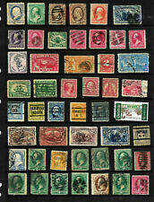 19th Century Back of Book Fancy Cancels Precancels 1-15 Cent Collection US A6
