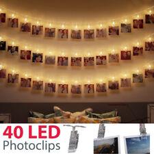 LED Lichterkette Fotoclips Batterie Innen Aussen Bilder Kette Foto Lichter Kette
