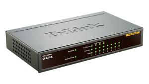 D-Link DES-1008PA 8-Port Fast Ethernet PoE Unmanaged Desktop Switch 100Mbps