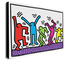 Keith Haring - Dancers - Pop Art - Canvas Wall Art Framed Print Various Sizes