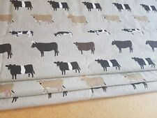 *Animal cow print fabric for a Roman Blind made up to 154cm wide x 110cm drop*