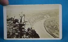 1870s CDV Carte De Visite View From The Bastei Bastion Of The Elbe Rathen Suisse