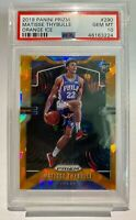2019 Panini Prizm Matisse Thybulle #290 Orange Ice Rookie PSA 10