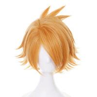 Anime Cartoon Characters Kaminari Denki Yellow Wig Hair Fans Cosplay Exhibit Hmz