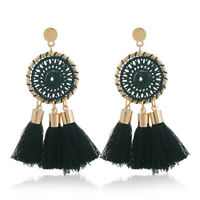 Bohemian Fashion Earrings Jewelry Long Tassel Fringe Women Boho Stud Drop Dangle