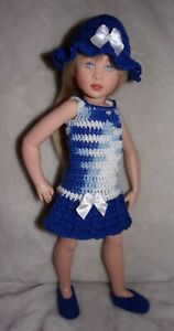 "Crocheted Ensemble for 10 1/2""-11"" Kish Bitty, Kelsey or 12"" Bastien Leeann Doll"