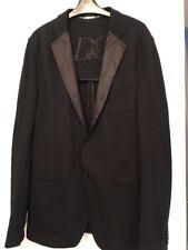 Dolce & Gabanna Black Soft Silk Collared Blazer