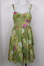 Anthropologie Girls from Savoy Dress Size 2 Rose Bramble Silk Floral Sun Dress