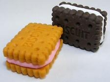 2 IWAKO Little Biscuits Puzzle Rubber Eraser Set Made in JAPAN Yum!