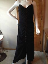 Ladies Dave & Johnny Elegant Long Black Evening Gown with Rhinestone Size 11/12