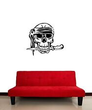 Wall Stickers Vinyl Decal Bandana Pirate Skull Dagger Corsair (ig867)