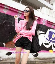 Japan Oversized Boyfriend Mixed Knit Sweater! Pink