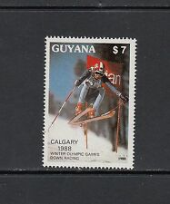 OLYMPICS/SKIING - Guyana  -1988 set of 1-(SC 1989)-MNH-Y580