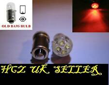 2x 4 LED ROSSO BA9S T4W Luce Laterale Interno Lampadine (Ford Benz Audi VW BMW)